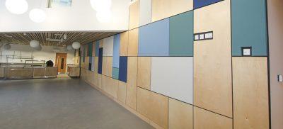 fabric wall at uni of brighton