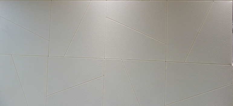 Detailed white acoustic wall