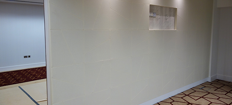 White acoustic wall