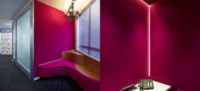 pink acoustic booth