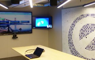 Printwall acoustic panels in optimizely office