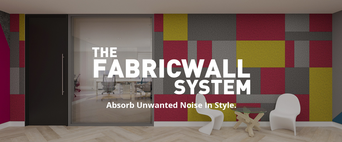 multicoloured fabricwall panels