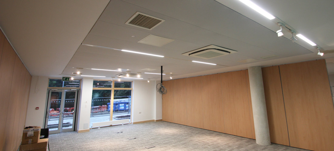 Acoustic ceiling at Brighton University