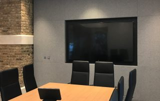 Grey acoustic Fabric Wall