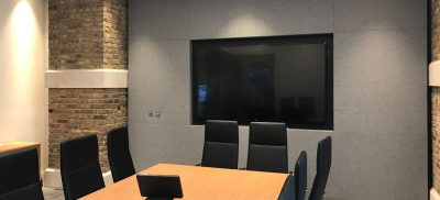 Grey acoustic Fabric Wall